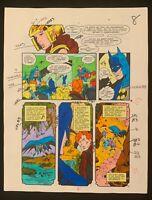 DC Batman Superman 1988 original color guide art Millennium Crisis in Costume!