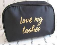 NEW LANCOME PARIS COSMETIC MAKE-UP BAG CASE ORGANIZER Black Fabric NEW