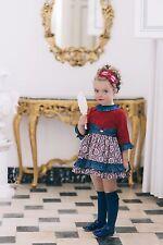 Dolce Petit - Vestido niña  rojo y azul - Dolce Petit - Otoño - Invierno