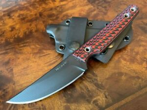 RMJ Tactical Knife Unmei Nitro-V Graphite Black Blade Black Widow G10