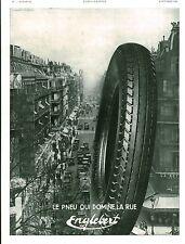 Publicité ancienne voiture automobile pneu Englebert 1931 issue de magazine