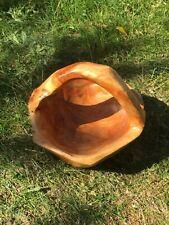 Hand geschnitzt Deko Holz Salatschüssel Obstkorb mit Griff Artikel 818