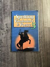 Abeka Spelling Vocabulary And Poetry 5