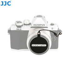 JJC Leather Stickup Lens Cap Keeper Anti-lost Cover for Olympus LC-46 Lens Cap