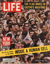 LIFE March 29,1963 Castro, Inside a Human Cell, JFK in Costa Rica, Mother Seton