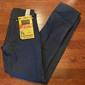 NWT Wrangler Men's Cowboy Cut Blue Jeans 33x38 13MWZ 100% Cotton New