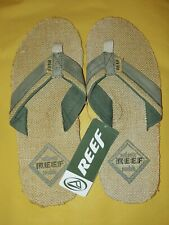 Men's Reef Magda Sandal Flip Flop Size 10 Tan/Green New