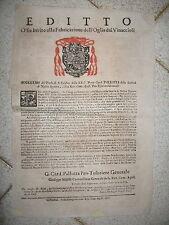 U310-STATO PONTIFICIO-EDITTO SULL'OLIO FATTO CON I VINACCIOLI 1781