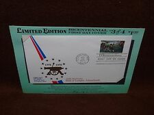 BATTLES OF LEXINGTON CONCORD BICENTENNIAL COVER 1975 10 Cent FDI STAMP
