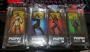Star Wars Clone Wars Figpin Set: All 4 Pins  Ahsoka, Darth Maul, Obi-Wan, Anakin