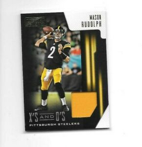 2018 Playbook Mason Rudolph RC Rookie Lot X's & O's Pittsburgh Steelers