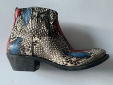 golden goose RED+BLUE snake print Boots it40 usa 9.5 NEW women Crosby