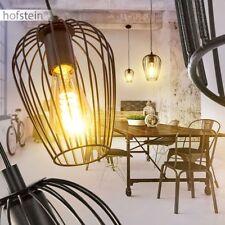 runde Pendel Leuchte schwarz Ess Wohn Schlaf Raum Beleuchtung Retro Hänge Lampen