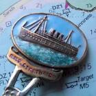 Old Vintage RMS Strathaird 1940 Troop Ship P&O Liner Enamel Crest Spoon