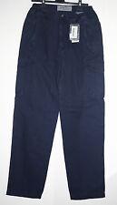 Pantalone uomo tg 38 54 blu tuta lavoro comodo tasche fine serie