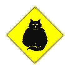 Fat-Cat Guard Symbol Crossing Animal Xing Metal Aluminum Novelty Road Sign 12x12