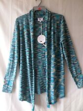 Y London Y700 Ladies Blue Combo Thin Cardigan Size S/8