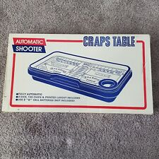 Vintage Waco AUTO-SHOOTER Craps Table Fully Auto Dice Roller Includes Batteries