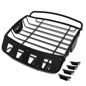 "Heavy Duty Steel Adjustable Roof Cargo Basket Baggage Holder 39""L x 38.5""W x 8""H"