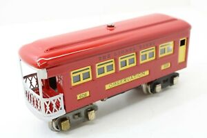 LIONEL OBSERVATION #608 BEAUTIFULLY RESTORED SEE PICTURES O GAUGE