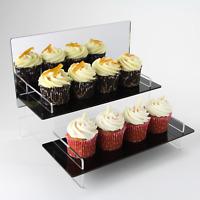 Bakery Tiered Display Stand, Black Shelves, Cupcakes, Brownies, Tarts, Pies