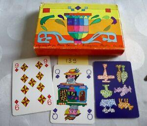 Ancien jeu de cartes ;Coffret 2 jeux de 54 cartes Illustrateur UGO NESPOLO
