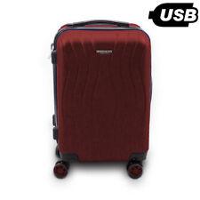 "BERWIN Trolley ABS Reisekoffer Handgepäck Boardcase Cabin M ""Angelina"" Weinrot"