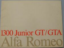 Alfa Romeo Giulia 1300 GT Junior & GTA 1970-71 Original UK Market Sales Brochure