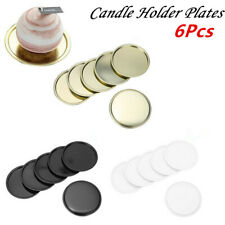 Candle Holder Metal Plated Jar Plates Container Tray Wedding Party Decoration_6x