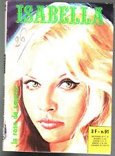 # ISABELLA n°91 # LA ROSE DE SMYRNE # 1977 ELVIFRANCE