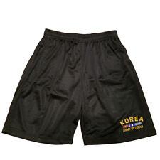 KOREA ARMY VETERAN Men Athletic Jersey Mesh Black Basketball Shorts M-5XL