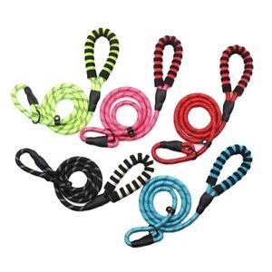 Slip Lead Multicolor Foam Handle Nylon Rope Dog Leash Reflective Training Lead