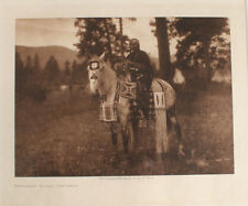 EDWARD S. CURTIS PHOTOGRAVURE FLATHEAD HORSE TRAPPINGS.