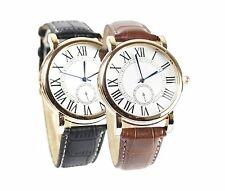 Armbanduhr Römische Ziffern Damen Herren Uhr Rosegold Schwarz Braun Lederarmband