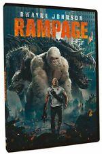 Rampage (DVD, 2018, 1-Disc Set) The Rock, Dwayne Johnson New & Sealed FREE Ship!