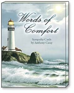 LEANIN TREE Words of Comfort~Sympathy 12 Note Cards #34640~3 each of 4 designs