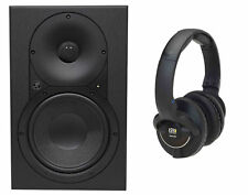 "Mackie XR624 6.5"" Powered Active Pro Studio Monitor Speaker + KRK Headphones"
