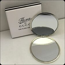 """New listing Gucci Silver Metal """"The Flora Garden """" Compact Mirror New In Box"""