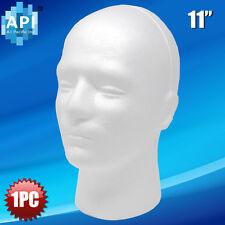 Male Styrofoam Foam Mannequin Manikin Head 11 Wig Display Hat Glasses 1pc