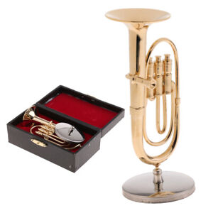 1/6 Tuba Model Miniature Musical Instrument for   Action Figure ACCS