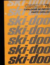 1978 SKI-DOO  OLYMPIQUE SNOWMOBILE PARTS MANUAL P/N 480 1071 00 (260)
