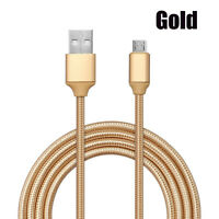 0.25M-3M Braided Micro USB Fast Data Charger Cable For Redmi Note 4x Android Lot