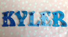 Boys Bedroom Wall Door Decor Individual Wooden Alphabets Any Colour/Theme Gift