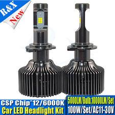 100W H7 CSP LED Car Headlight Kit Replace Hid Xenon Kit Bulb Lamp 10000LM 10-30V