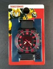 Hasbro Transformers Adult Analog Watch Autobots Logo Black Silicone Band New
