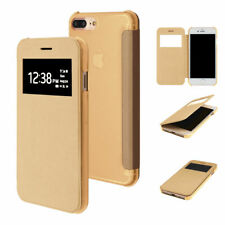 "ETUI FOLIO A RABAT iPHONE 8 PLUS (5""5) FLIP COVER OR GOLD ECO-CUIR (PU)"