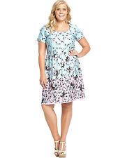 So Fabulous Colour Block Floral Print Dress  Size 20