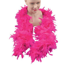 FEATHER BOA PINK BLACK WHITE YELLOW ALL COLOURS FANCY DRESS