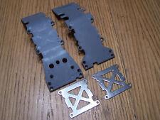 Traxxas 4907 3.3 T-maxx Front & Rear Skid Plates with Braces / 2.5 Tmaxx E-maxx