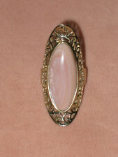 Amazing Pink Mother of Pearl Marquis Ring in SS 925